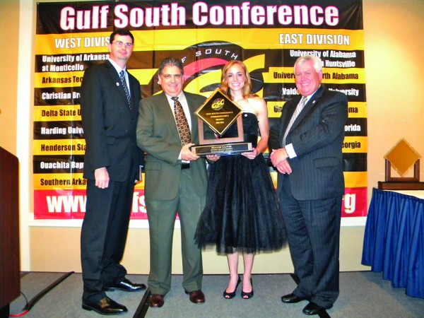 Glover captures Gulf South Conference's Top Honor