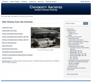 SAU Archives screenshot