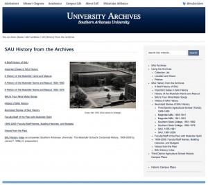 SAU Archives screenshot