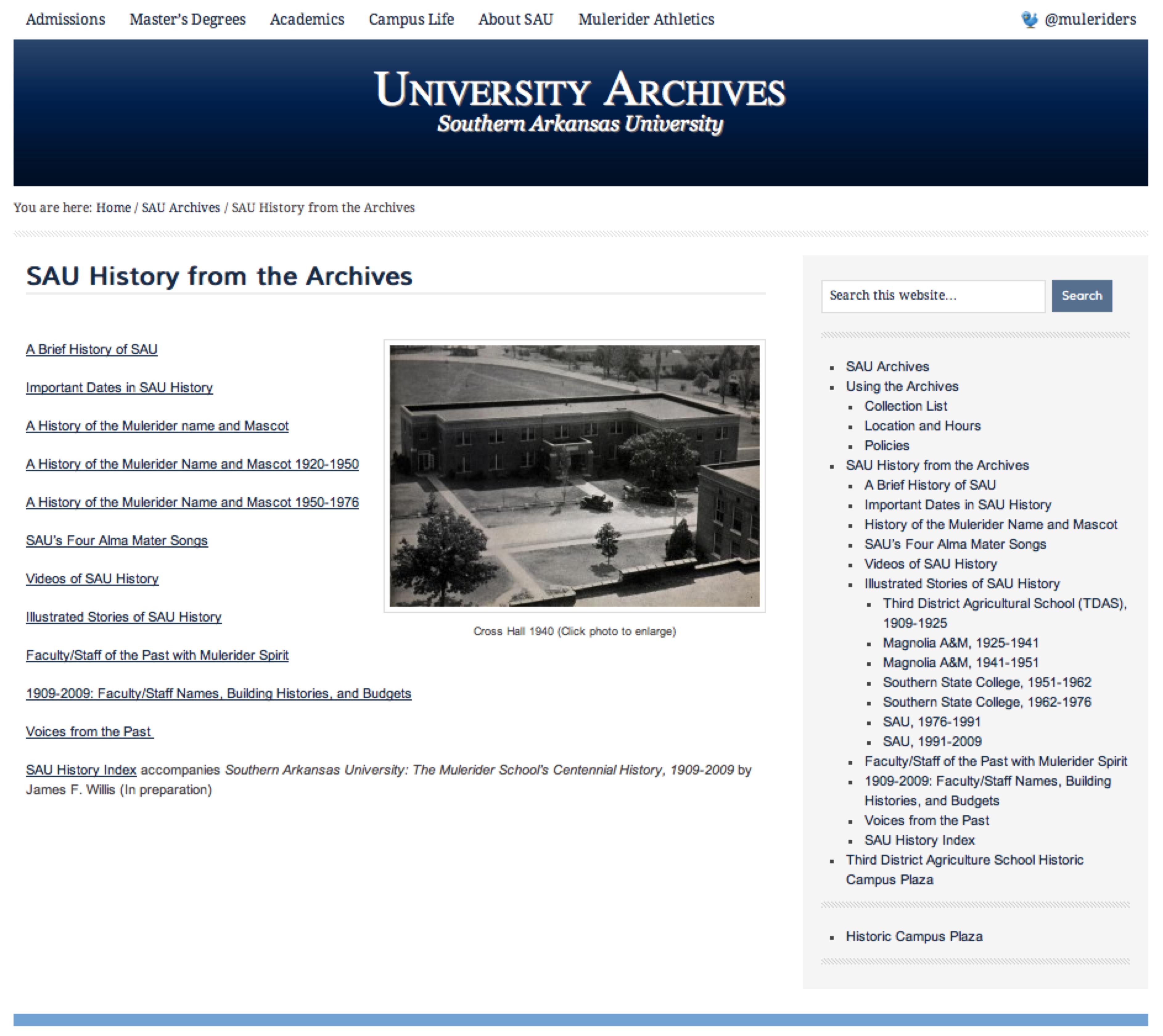 SAU history online