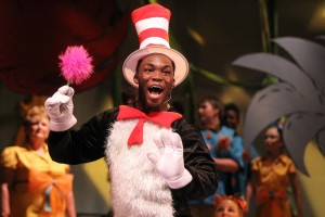 Christian Williams lights up the stage of Seussical the Musical as the character Cat in the Hat. Williams is a junior theatre major from Hope, Ark.