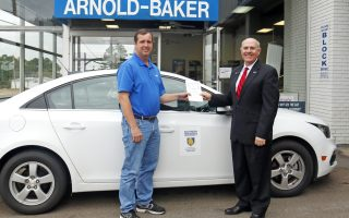 Arnold-Baker Chevrolet donates use of car to SAU