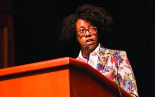 Finding the poetry: Kelly delivers Mallory Distinguished Lecture